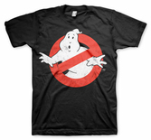 GHOSTBUSTERS - T-Shirt Distressed Logo - Black (M)