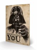 STAR WARS - Impression sur Bois 40X59 - Your Empire Needs You