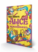 DISNEY - Impression sur Bois 40X59 - Alice in Wonderland 1974