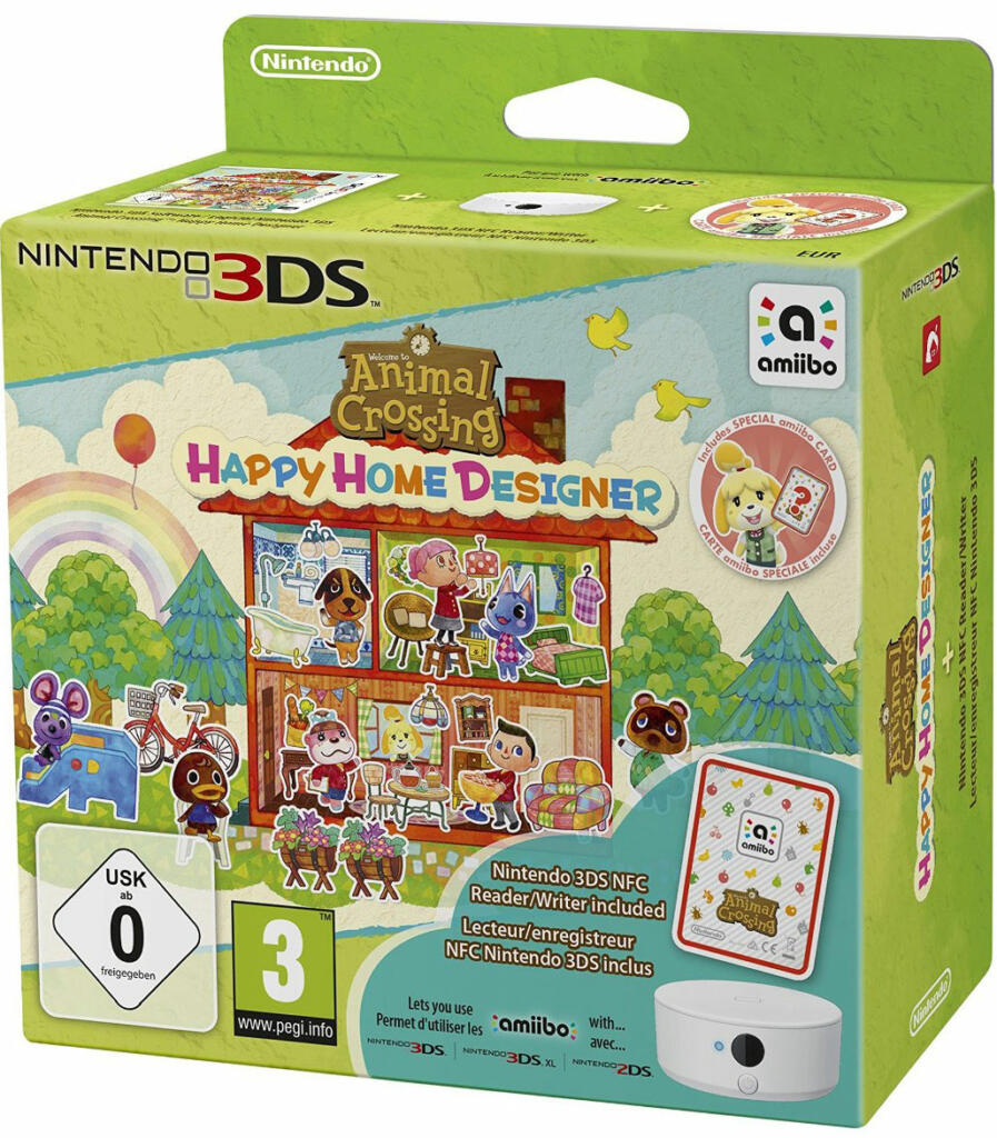 Animal Crossing Happy Home Designer + Lecteur NFC Amiibo