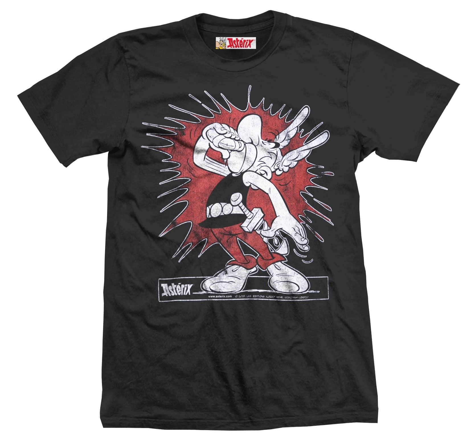 ASTERIX & OBELIX T Shirt Splash Boy Black (S)