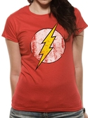 FLASH - T-Shirt IN A TUBE- Distressed Logo WOMAN (S)