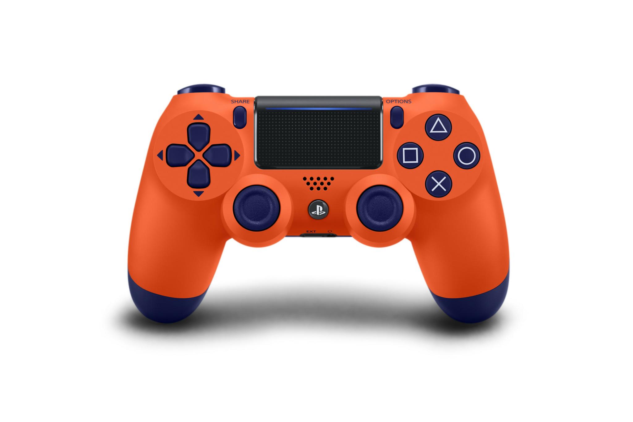 manette dualshock 4 v2 sunset orange ps4 r f rence gaming. Black Bedroom Furniture Sets. Home Design Ideas