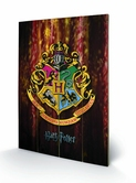 HARRY POTTER - Impression sur Bois 40X59 - Hogwarts Crest