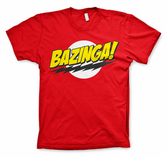 THE BIG BANG - T-Shirt BAZINGA Super Logo - Red (XL)