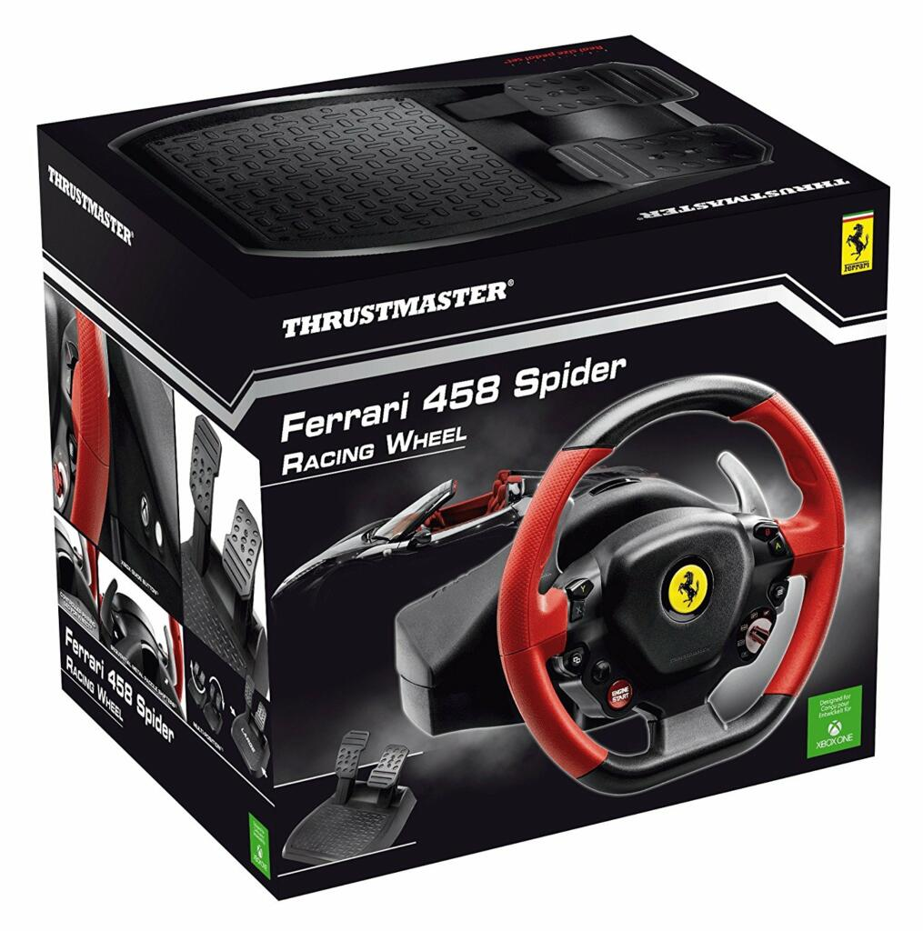 volant thrustmaster ferrari 458 spider racing xbox one acheter vendre sur r f rence gaming. Black Bedroom Furniture Sets. Home Design Ideas