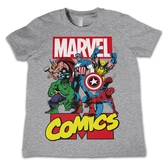 T-Shirt enfant Marvel : Comics Heroe Gris - 8 ans