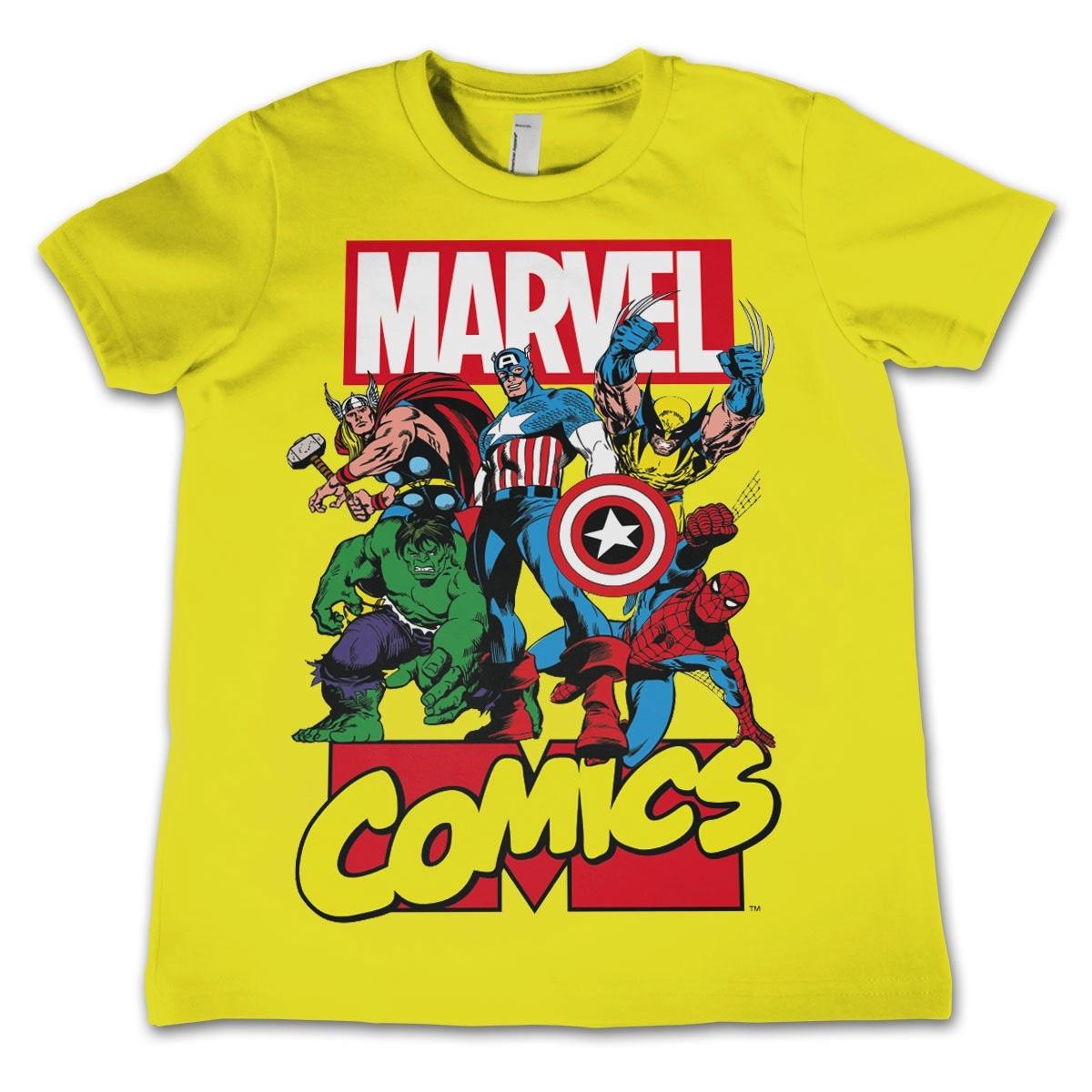 c4b5032ccabed T-Shirt enfant Marvel : Comics Heroe Jaune - 12 ans : Référence Gaming