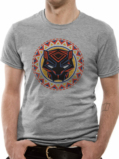 T-Shirt Black Panther : Logo in Circle Gris - S