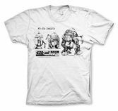 T-Shirt Star Wars : Blueprint R2D2 - S