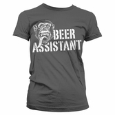 T-Shirt Femme Gas Monkey Garage : Beer Assistant Gris - L