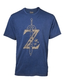 T-Shirt Imitation Jeans The Legend of Zelda : Logo Z Usé - XL