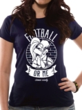 T-Shirt Femme Looney Tunes : Football or Me - M