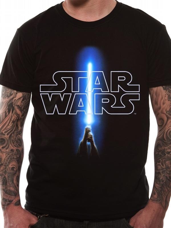 T-Shirt Star Wars : Logo et Sabre Laser -