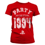 T-Shirt Femme PlayStation : Party Like It's 1994 Rouge - S