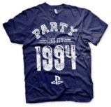 T-Shirt PlayStation : Party Like It's 1994 Bleu Marine - S