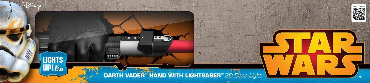 Lampe Déco 3d Star Wars Sabre Laser Dark Vador Référence Gaming