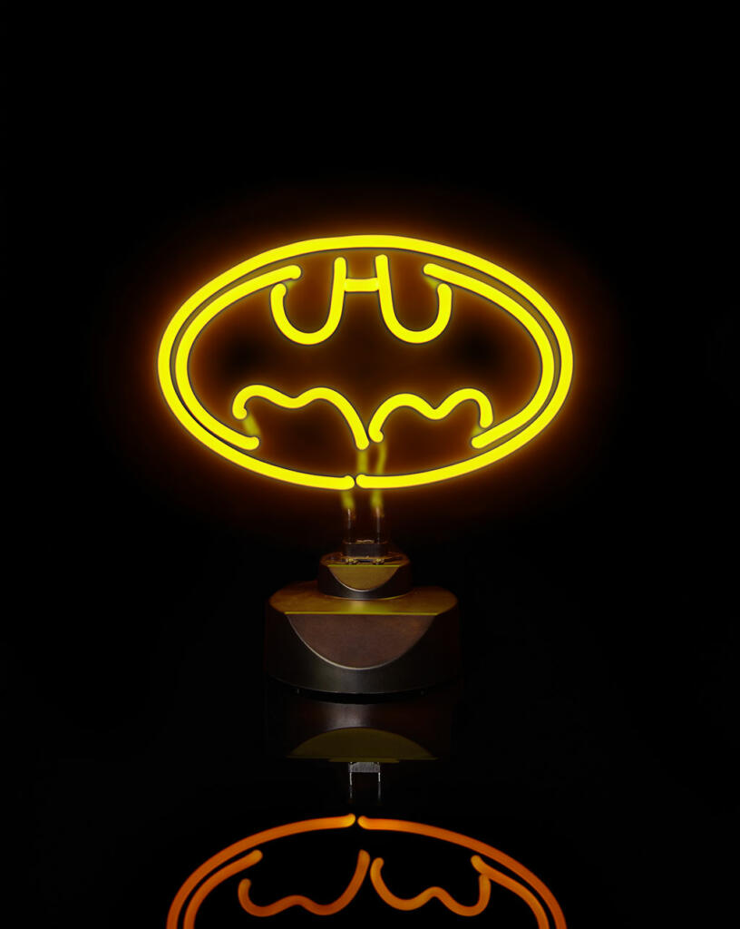 lampe n on batman logo 23 x 30 cm acheter vendre sur. Black Bedroom Furniture Sets. Home Design Ideas
