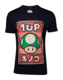 T-Shirt Nintendo : Super Mario Mushroom 1-UP Propagande - XL