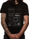 T-Shirt Batman : Batmobile Blueprint - XXL