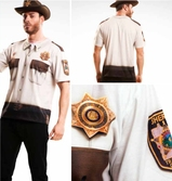 T-Shirt Cosplay The Walking Dead : Sheriff - M