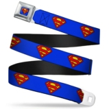 SUPERMAN - Ceinture (Regular) - 60/96 - 3,8 Cm - Blue/Logo