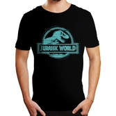 T-Shirt Jurassic Park World : Logo Bleu - XL