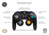 Manette Sans fil GameCube Noire POWER A - Switch