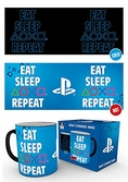 Playstation eat sleep repeat - mug thermo réactif