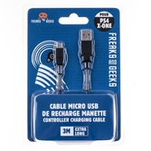 Cable Micro USB Freaks and Geeks - PS4 - XBOX ONE - Mobile - 3m