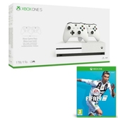 Console Xbox One S 1 To + 2 manettes + Fifa 19 inclus