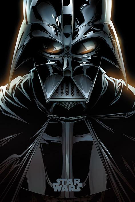 star wars - poster 61x91 - vader comic : référence gaming