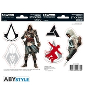 Assassin's creed - stickers - 16x11cm / 2 planches - edward/altaïr