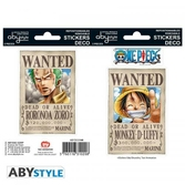 One piece - stickers - 16x11cm / 2 planches - wanted luffy & zoro