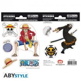 One piece - stickers - 16x11cm / 2 planches - luffy & law