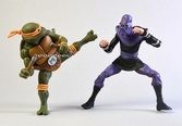 Tmnt - action figure - michelangelo vs foot soldier - 18cm