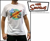 T-Shirt Simpsons Itchy Et Scratchy Blanc - Taille XL