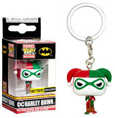 Funko keychains dc comics harley quinn holiday
