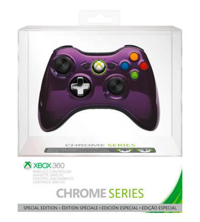 manette sans fil violet chrom xbox 360 acheter vendre sur r f rence gaming. Black Bedroom Furniture Sets. Home Design Ideas