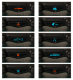 Stickers light bar PS4